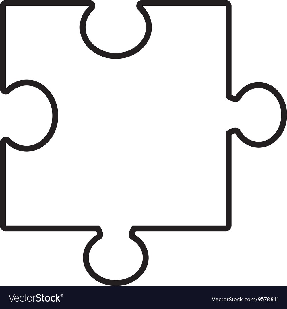 Isolated puzzle piece graphic