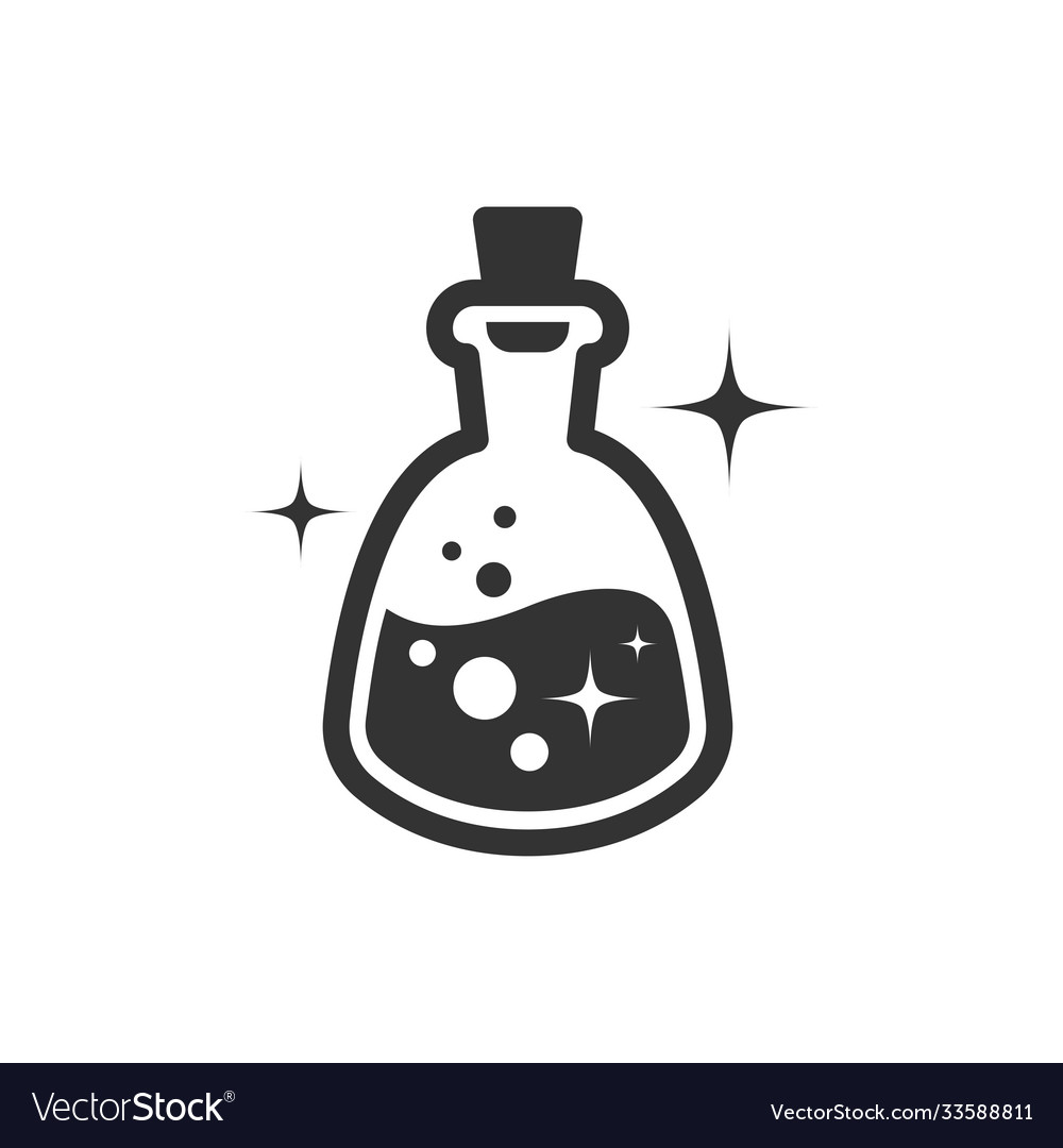 Magic potion icon black on white