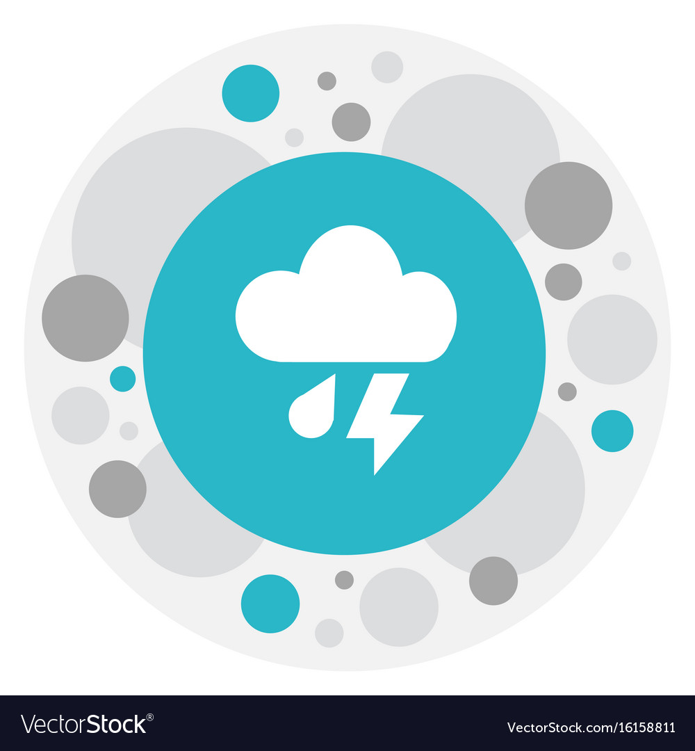 Of air symbol on cloudburst