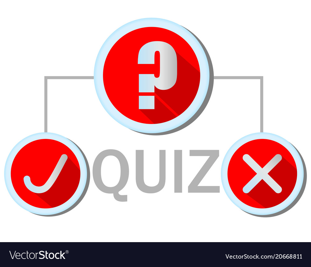 Quiz emblem in flat design with question mark icon