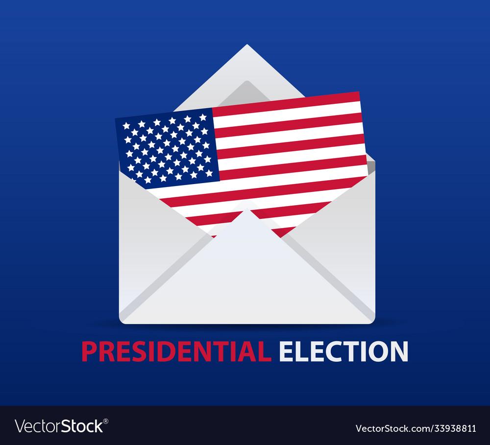 Usa presidential election vote poster design
