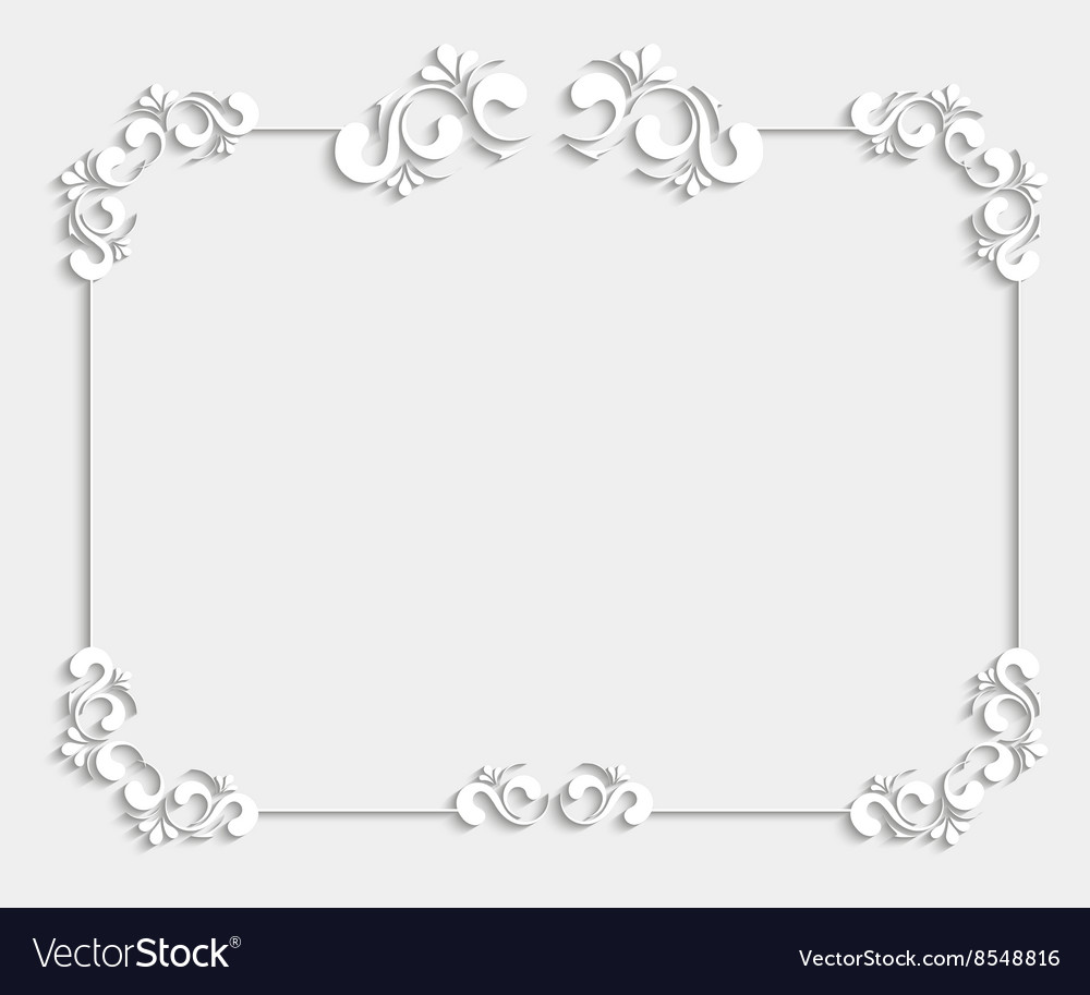3d beautiful calligraphic frame