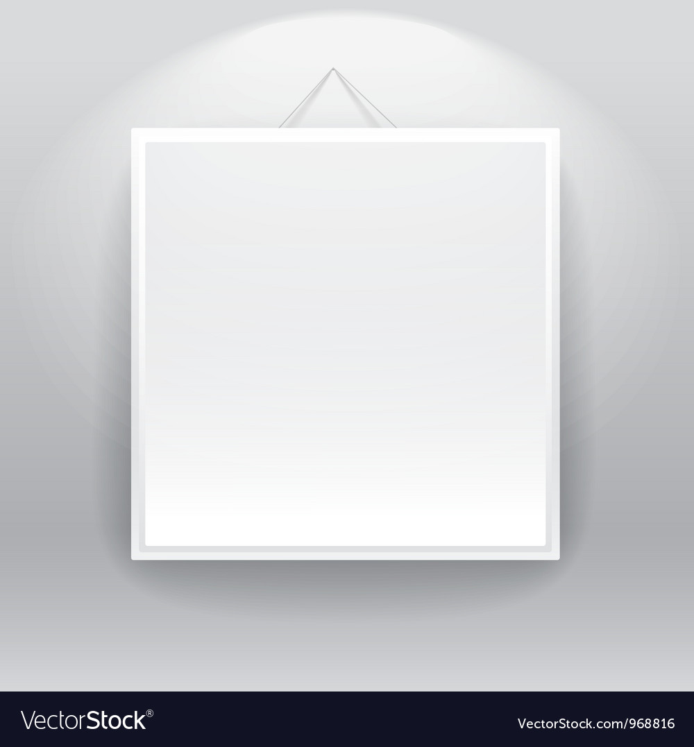 Blank frame on the wall Royalty Free Vector Image