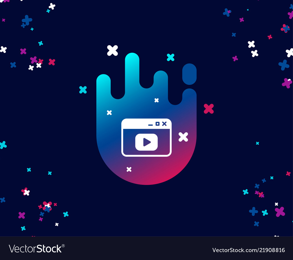 Browser window simple icon video content sign
