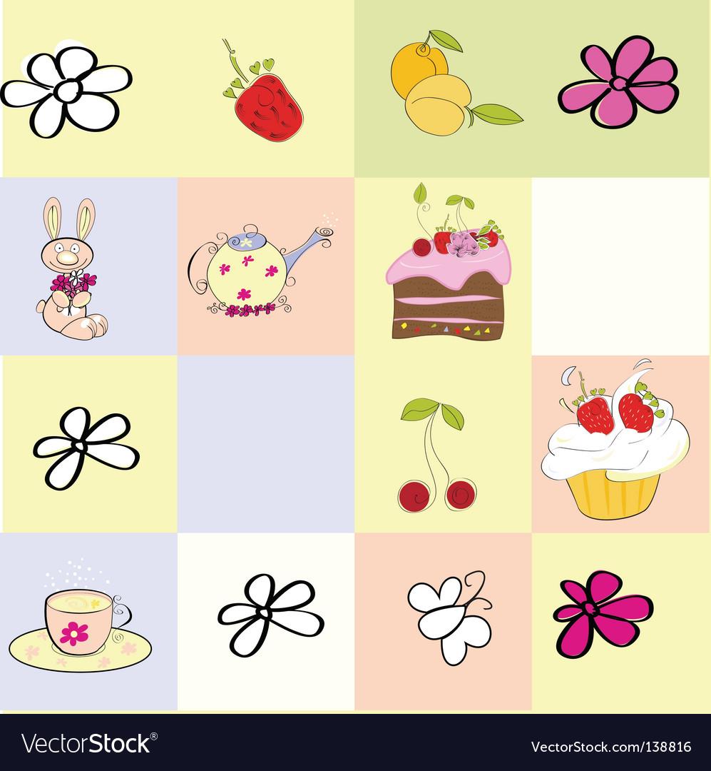 cupcakes cartoon background. cupcakes cartoon background.