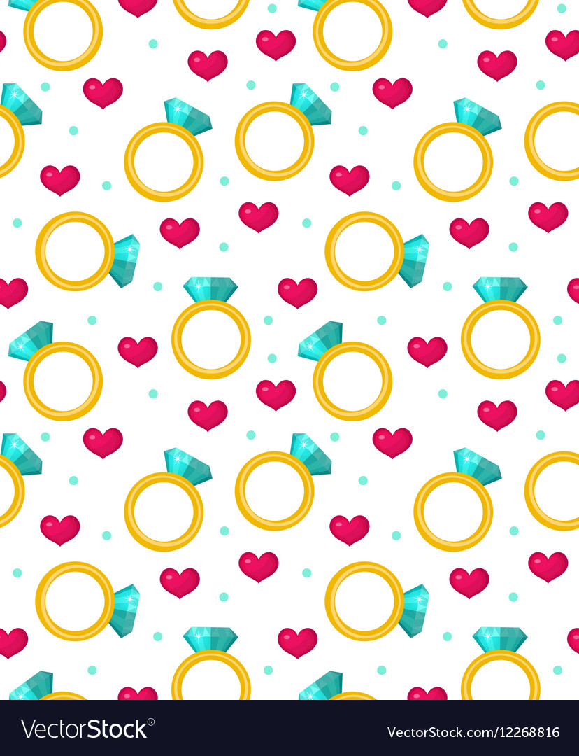 Cute seamless pattern Valentines day with jewel