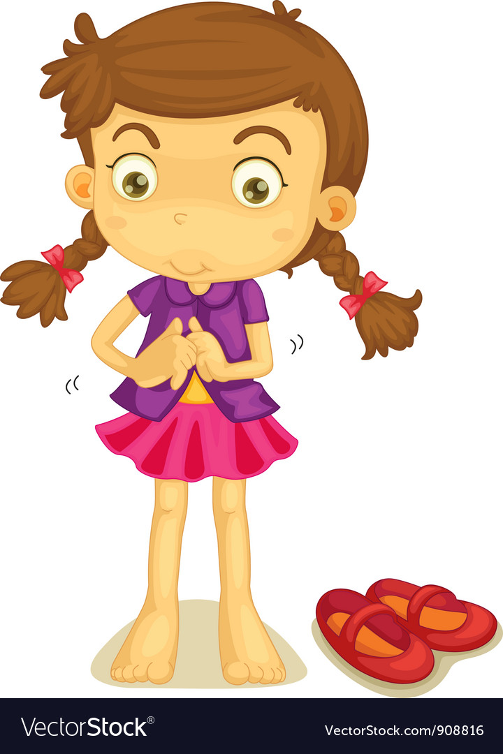 Kids Getting Dressed Clip Art Dressing vector art - download
