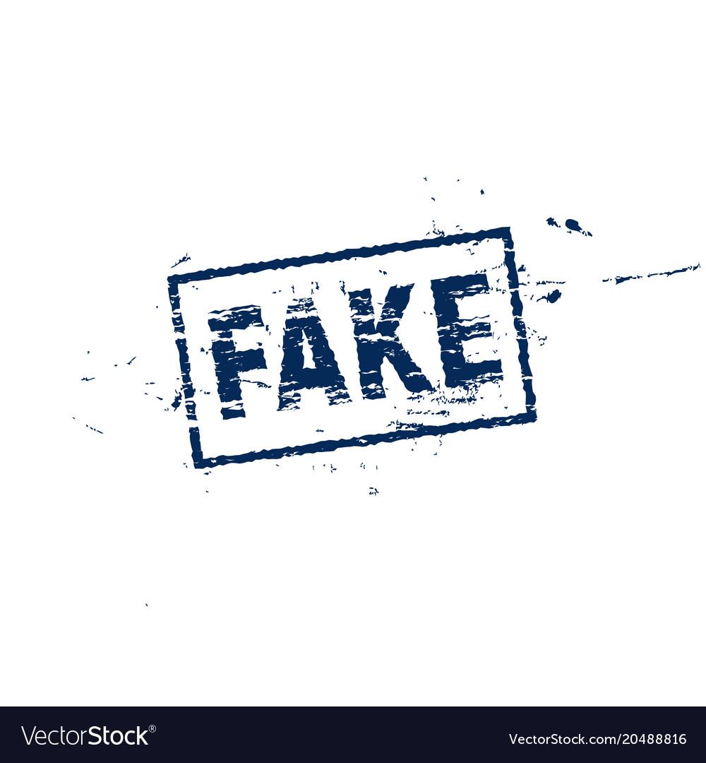 Fake square label grange style stamp
