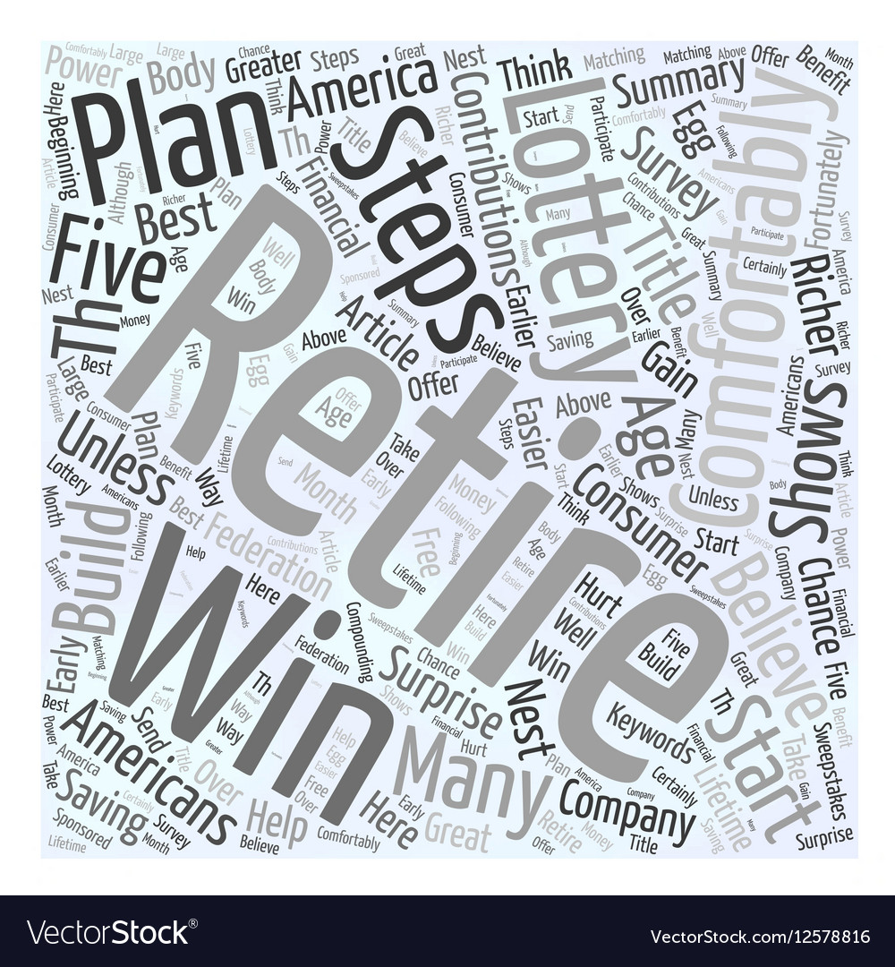 Five Steps To A Richer Retirement Word Cloud