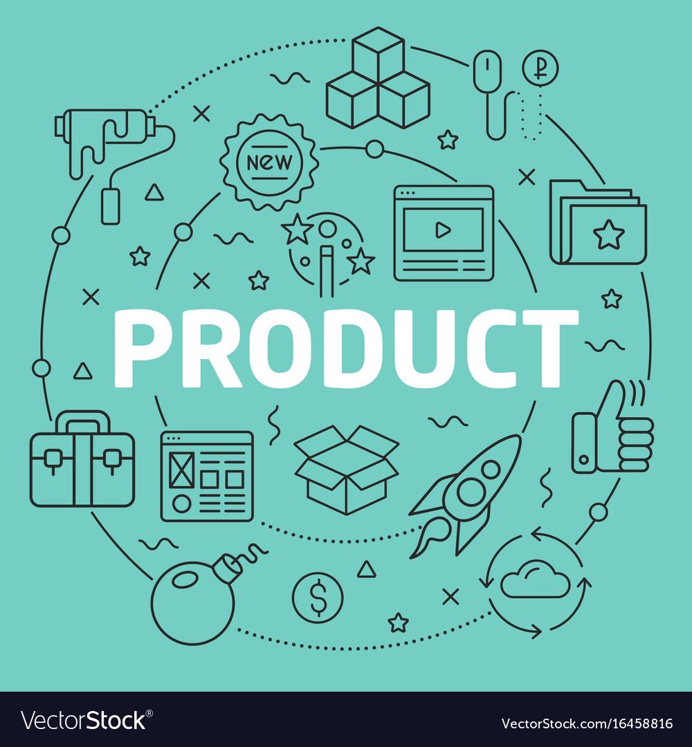 Green line flat circle product