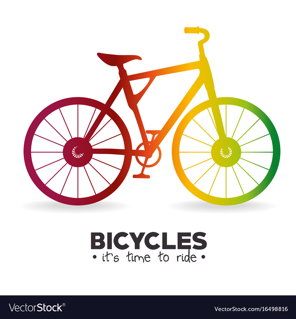 I love my bike label template Royalty Free Vector Image