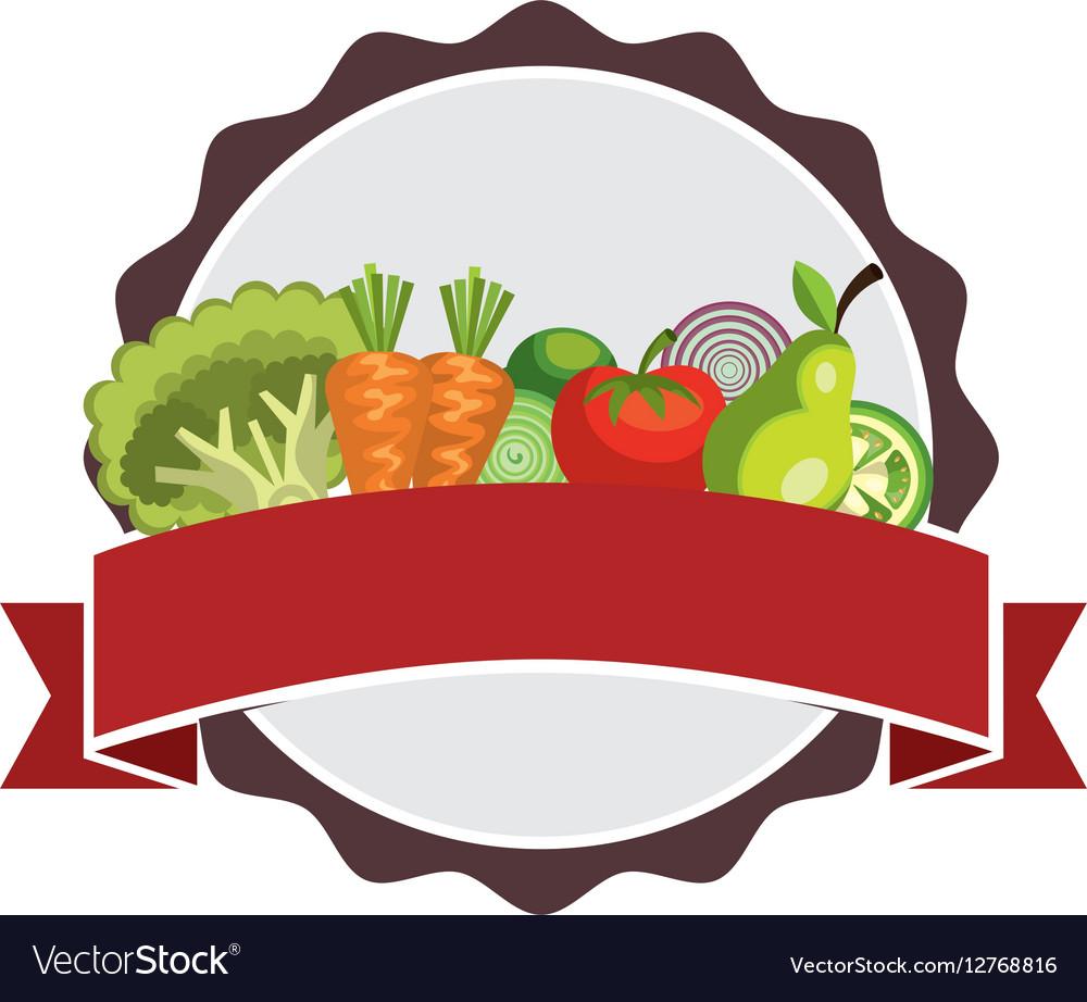 Salad vegetables fresh icon