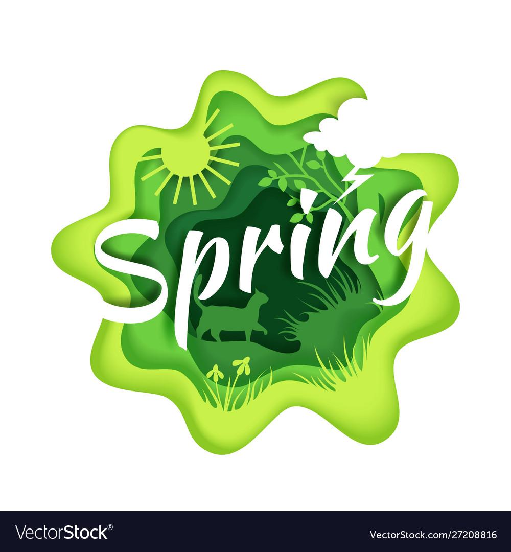 Spring season composition in