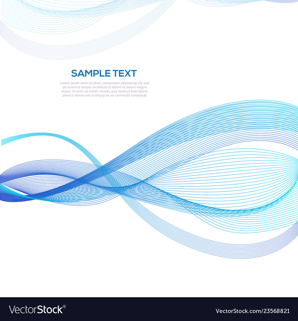 Abstract blue wave business background template