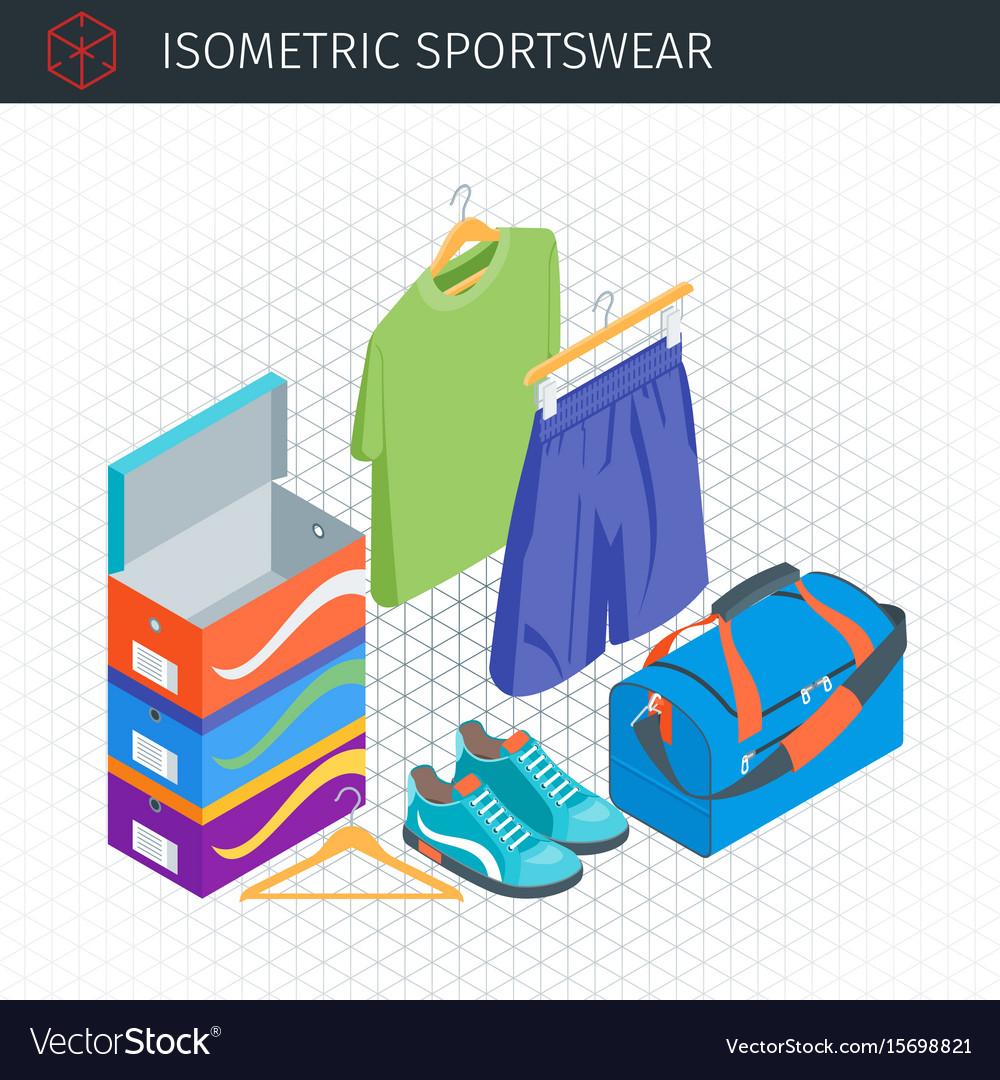 Isometric sportswear set