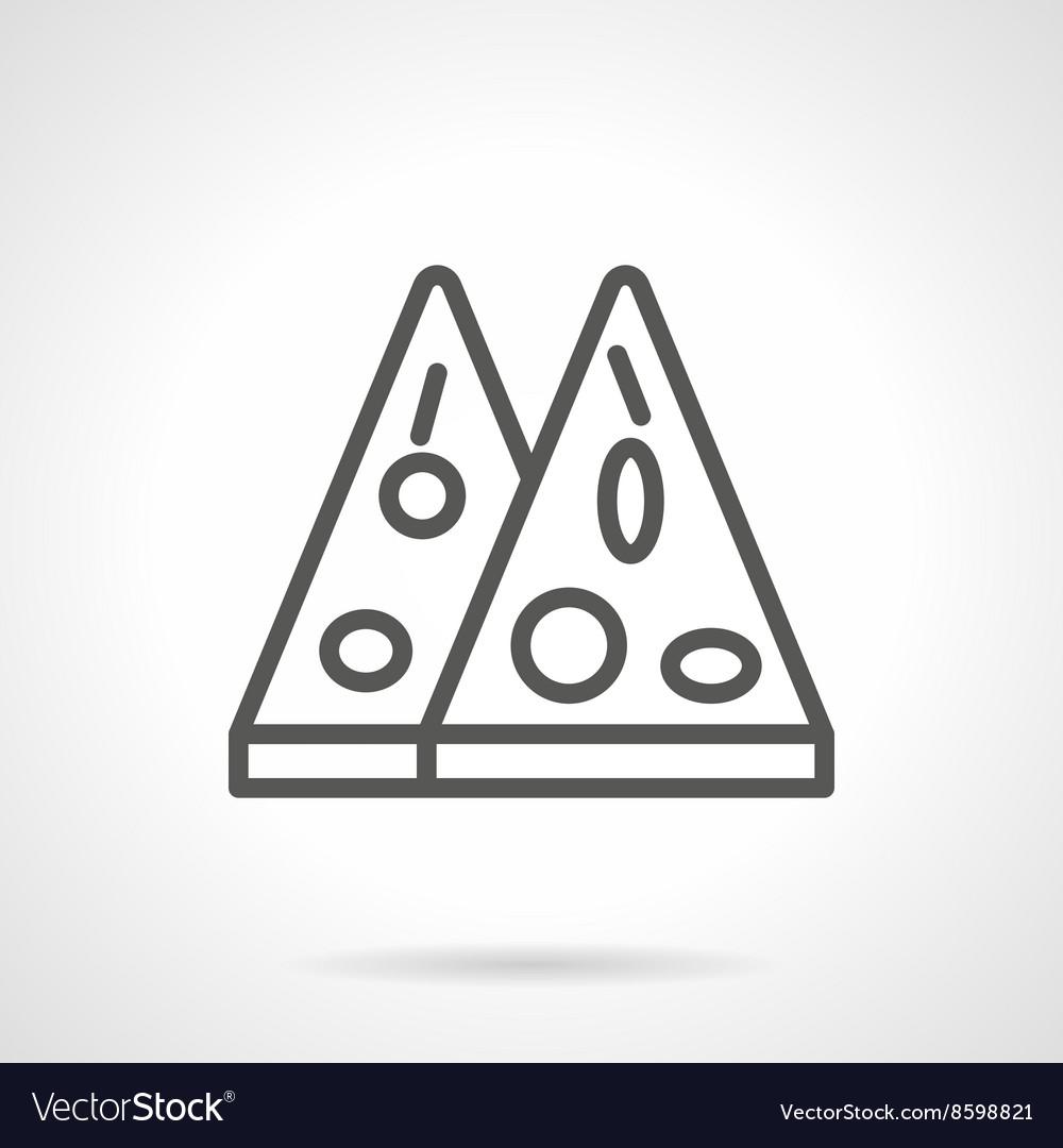 Mexican pizza black line icon