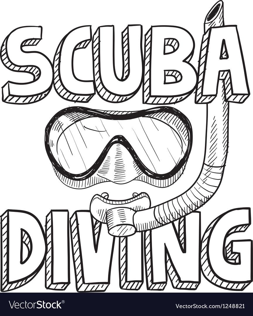 scuba diving royalty free vector image vectorstock