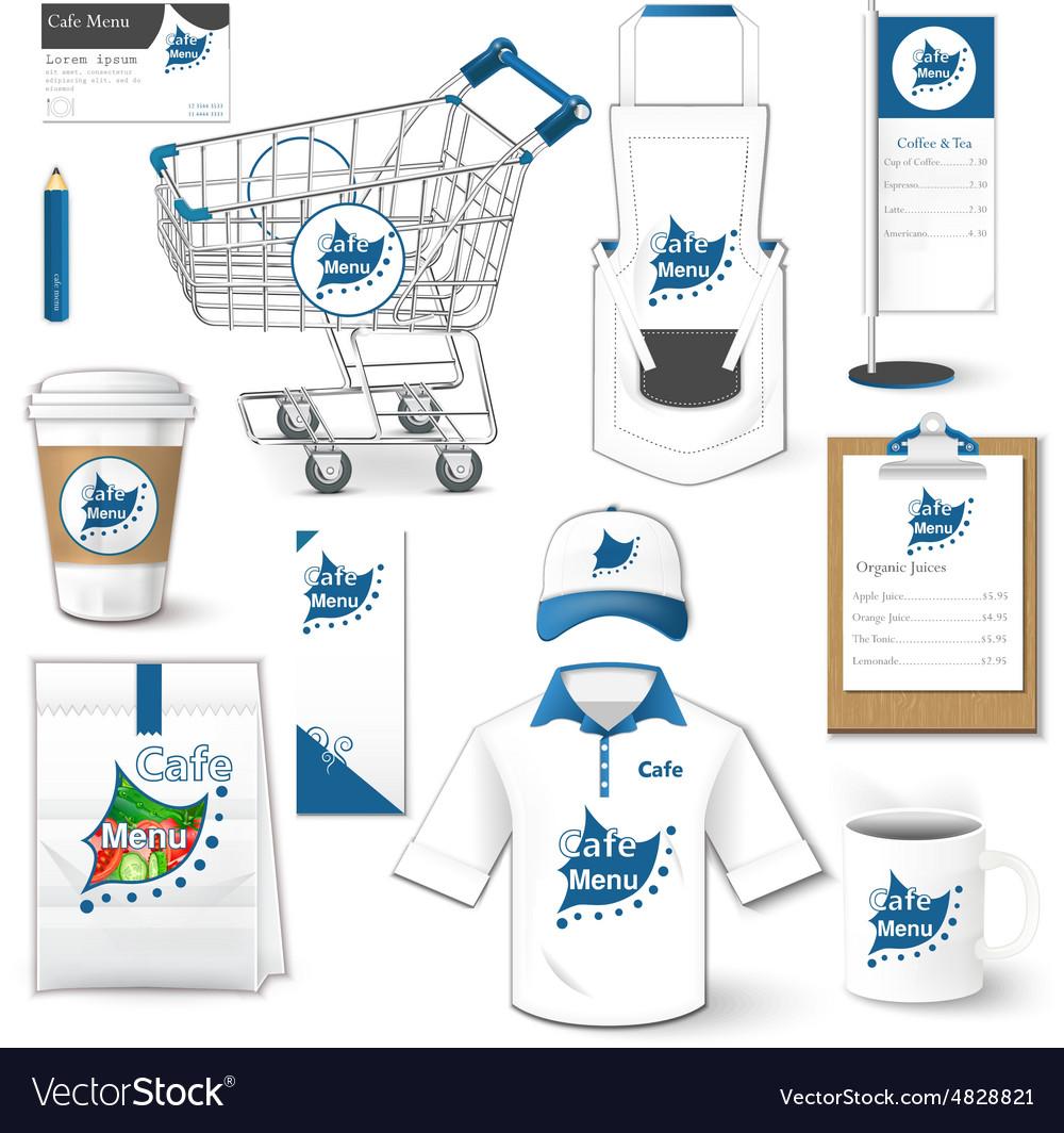 Set of corporate identity uniform flyer cart