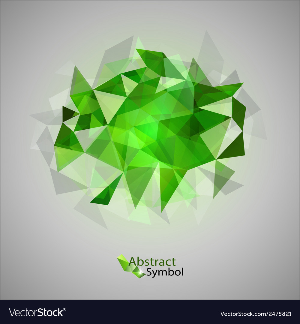 Triangles on gray green