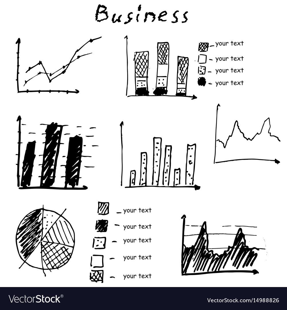Business finance hand drawn elements