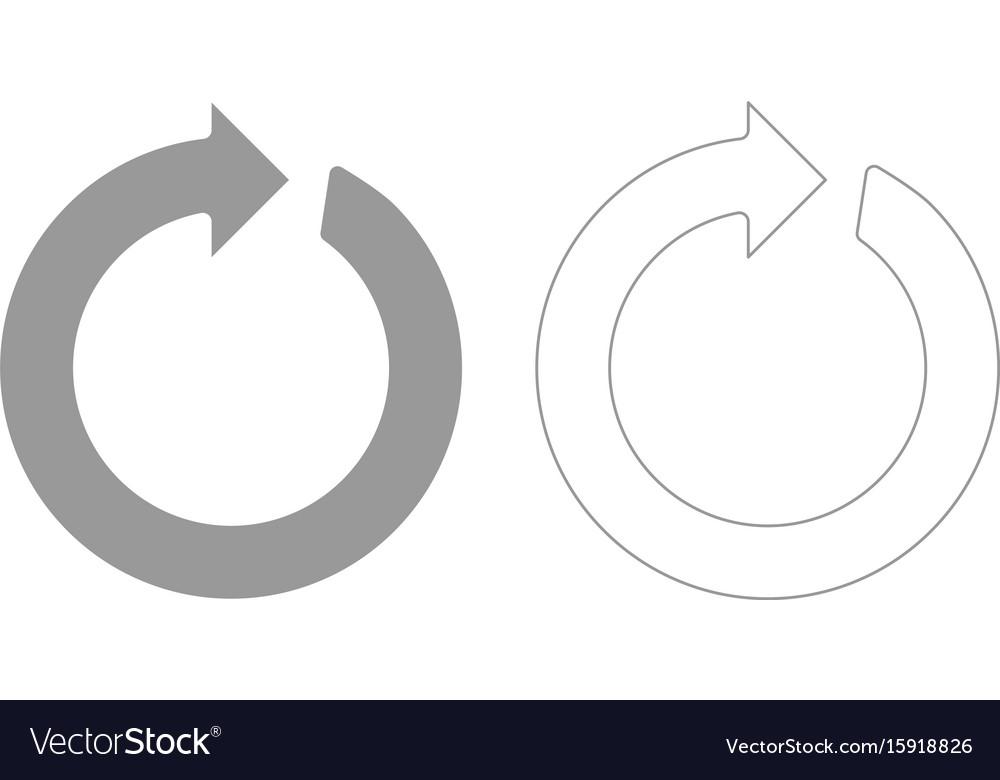 Circle arrow grey set icon