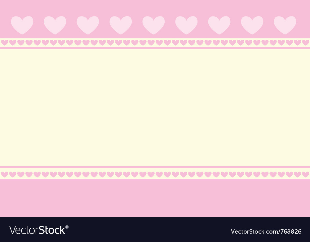 Hearts background wallpaper vector image