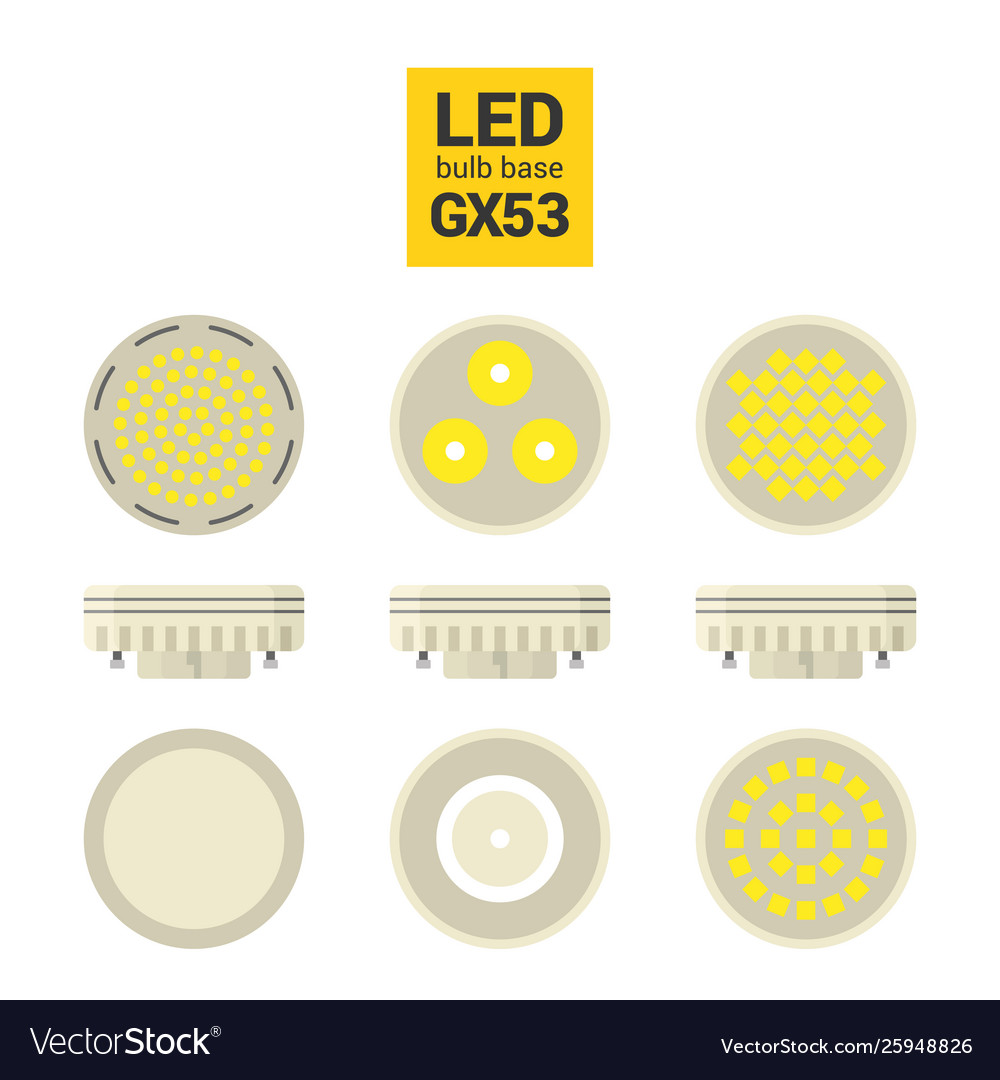 Led light gx53 bulbs colorful icon set
