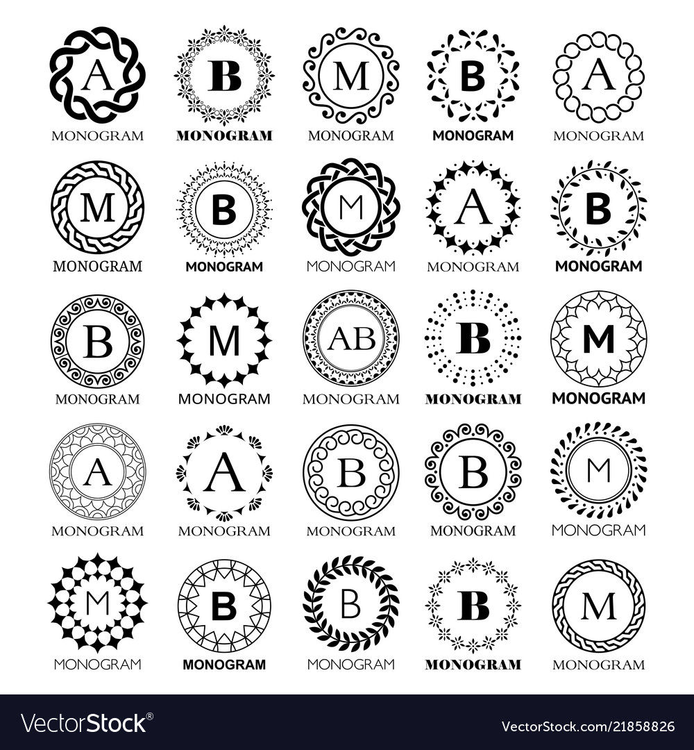 Monogram template design - big set