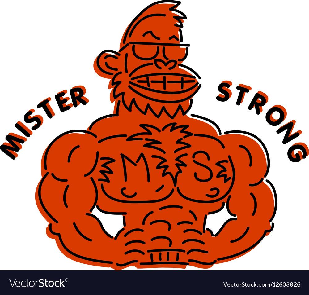 Mr super vector image