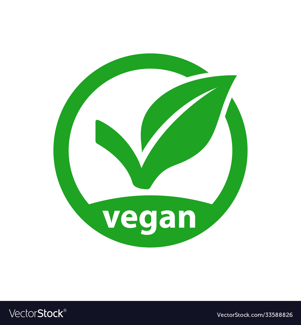 Vegan icon product image vector