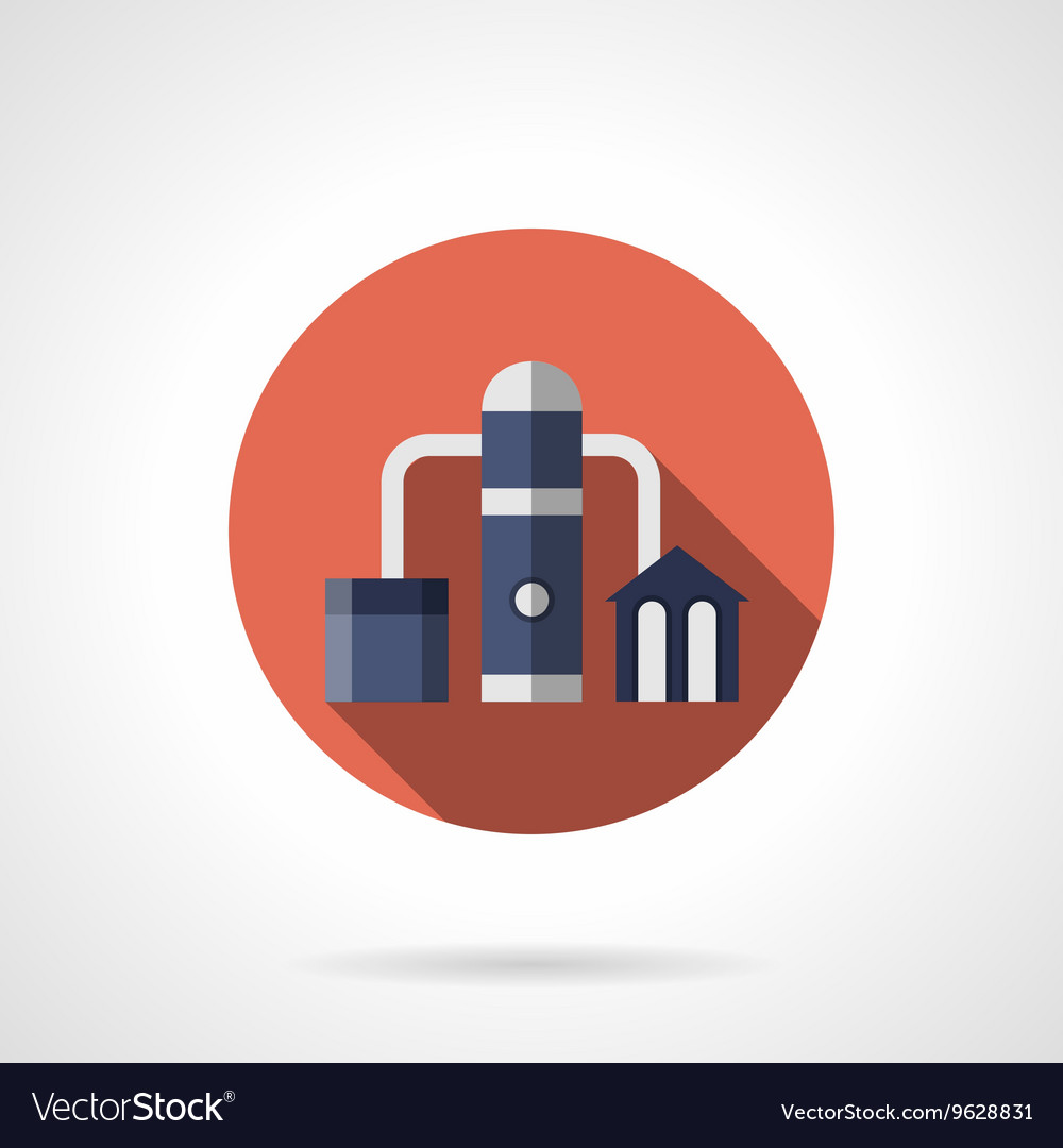 Oil distillation red round icon vector image