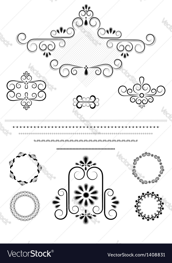 Ornaments and borders for page design