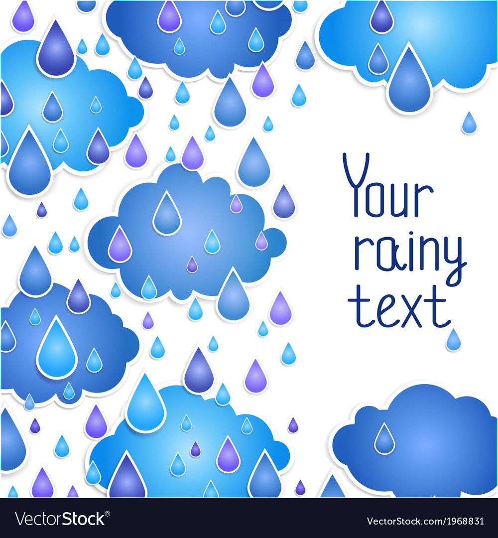 Rainy background for your text