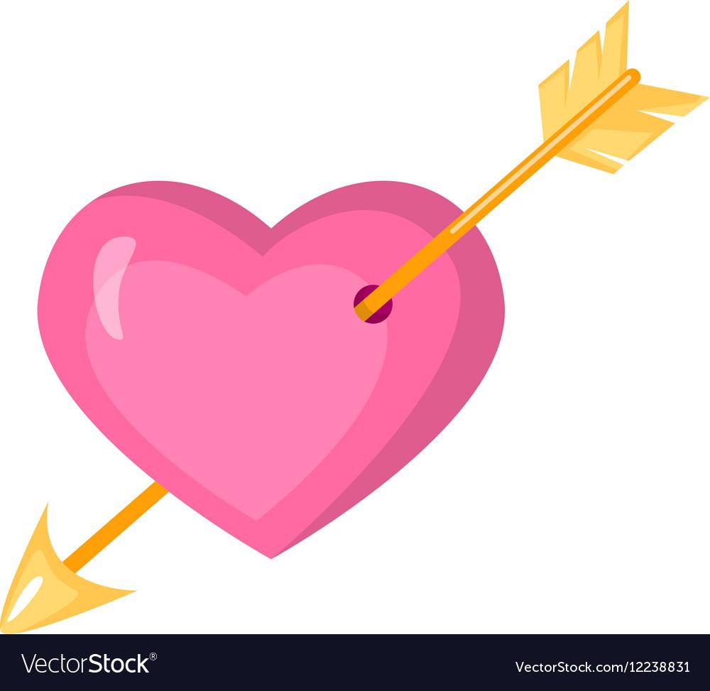 Valentine s day stylish icons set Cartoon style