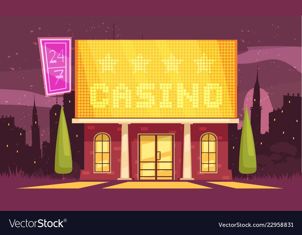 Winter casino house composition