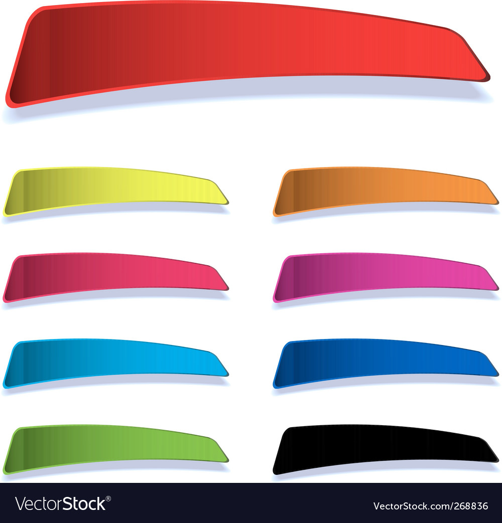Colourful blank tag