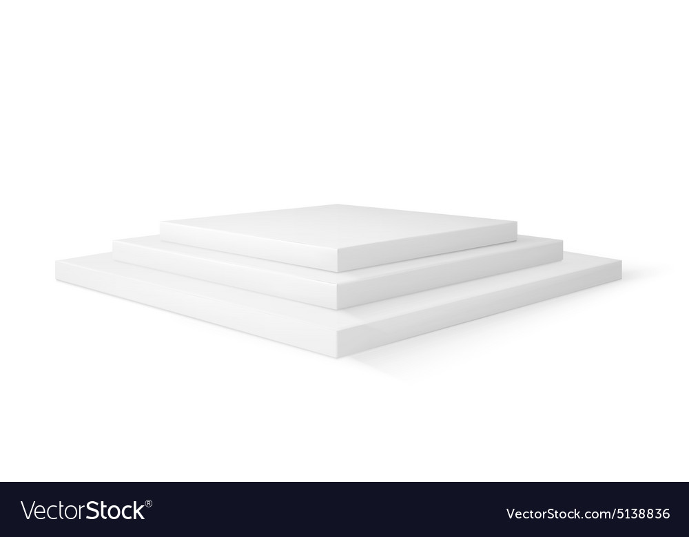 Empty stage studio isolated on white vector image