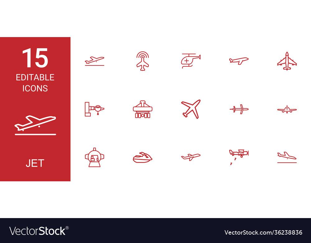 Jet icons