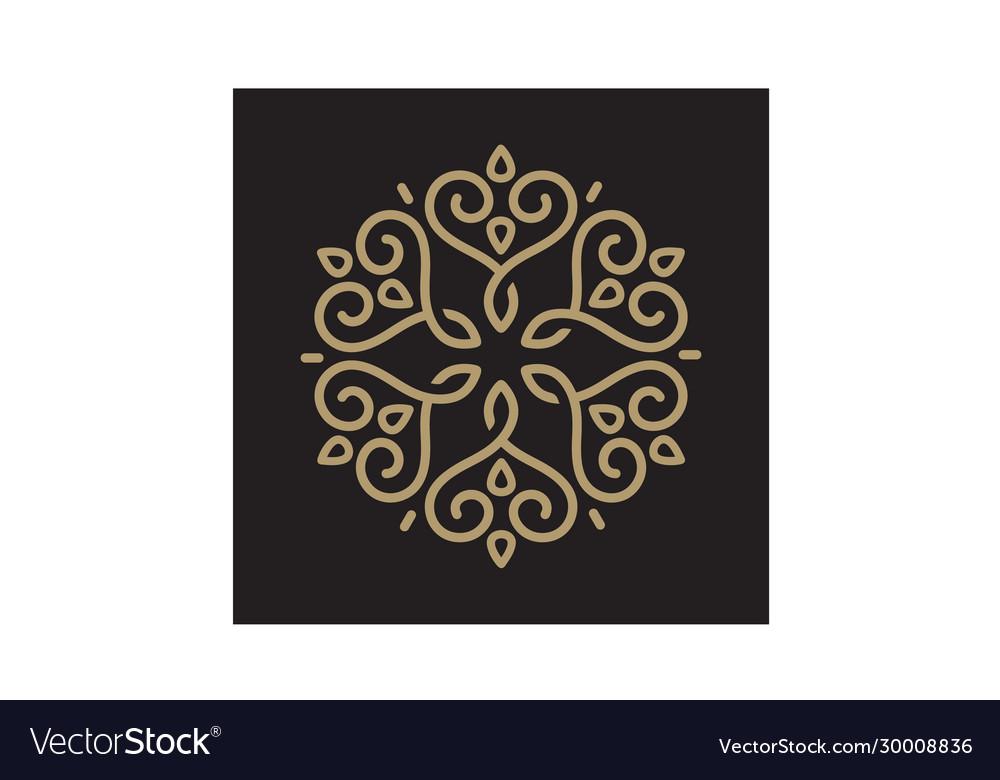 Mandala ornament pattern line art hart love logo