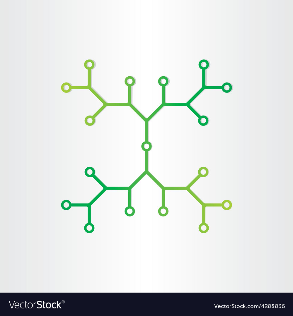 Organic chemistry structure model abstract design