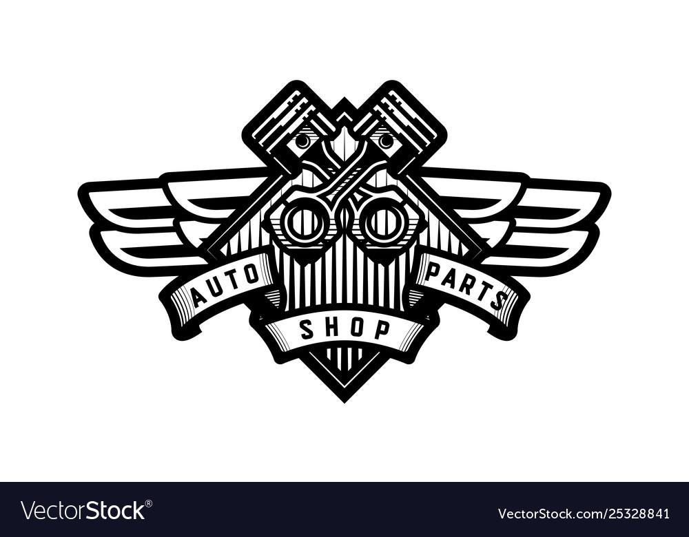 Auto parts store car logo emblem