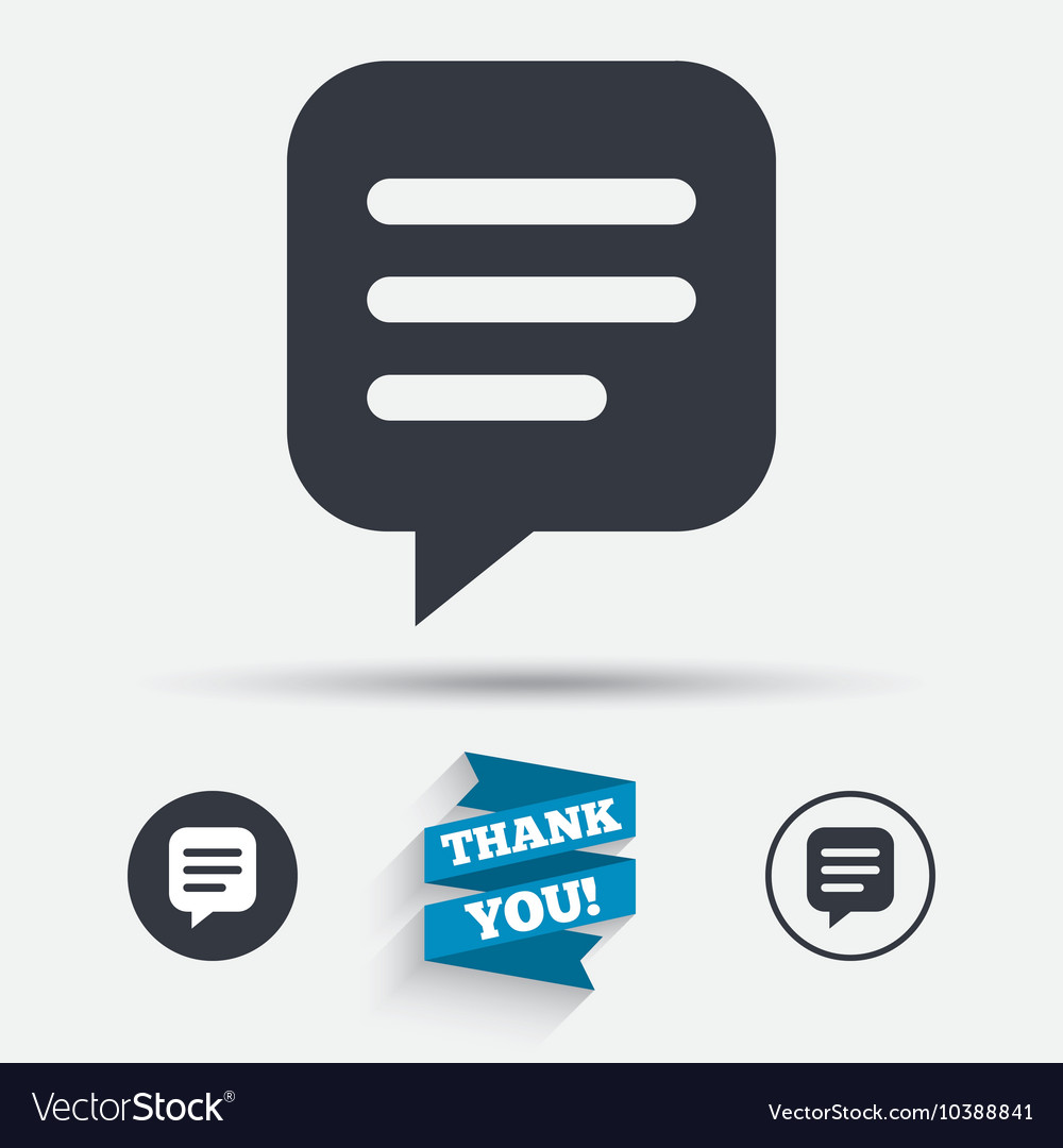 Chat sign icon Speech bubble symbol
