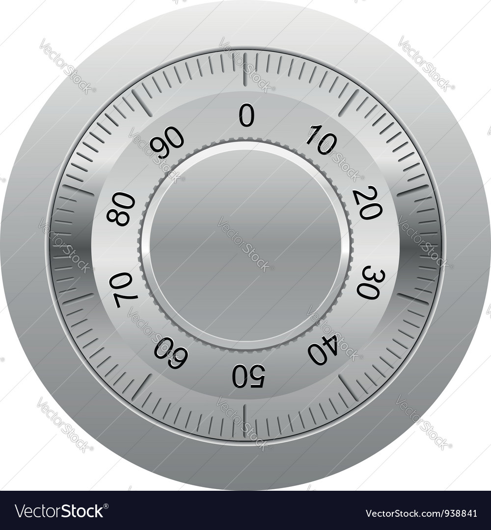 Combination lock 01 vector image