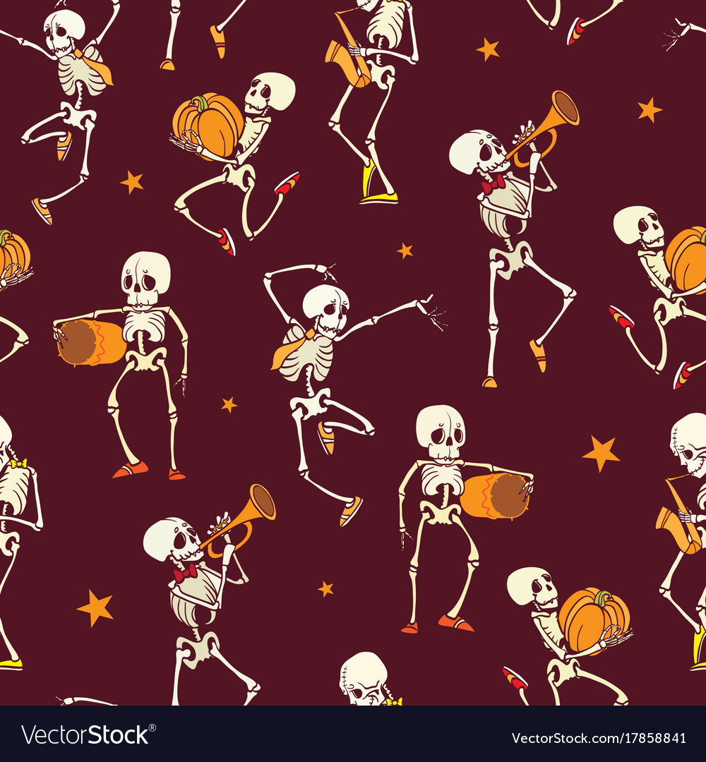Dark red dancing and plating music vector image