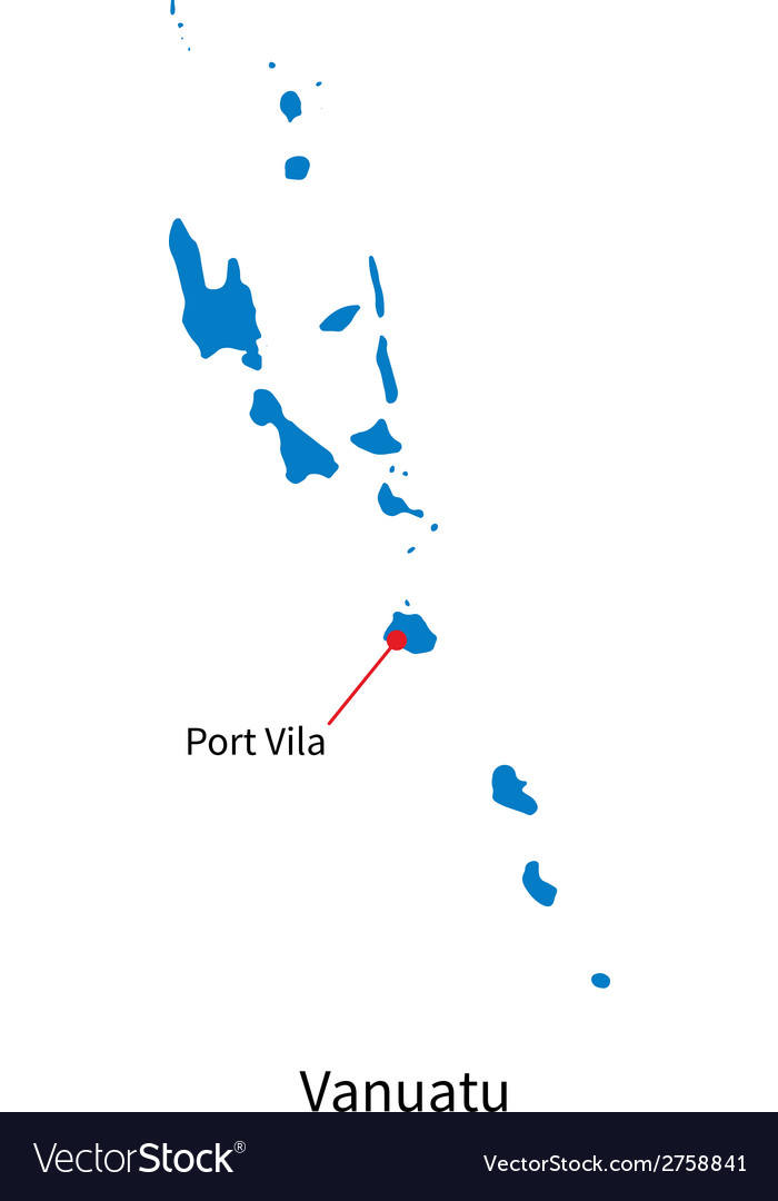 Detailed map of Vanuatu and capital city Port Vila
