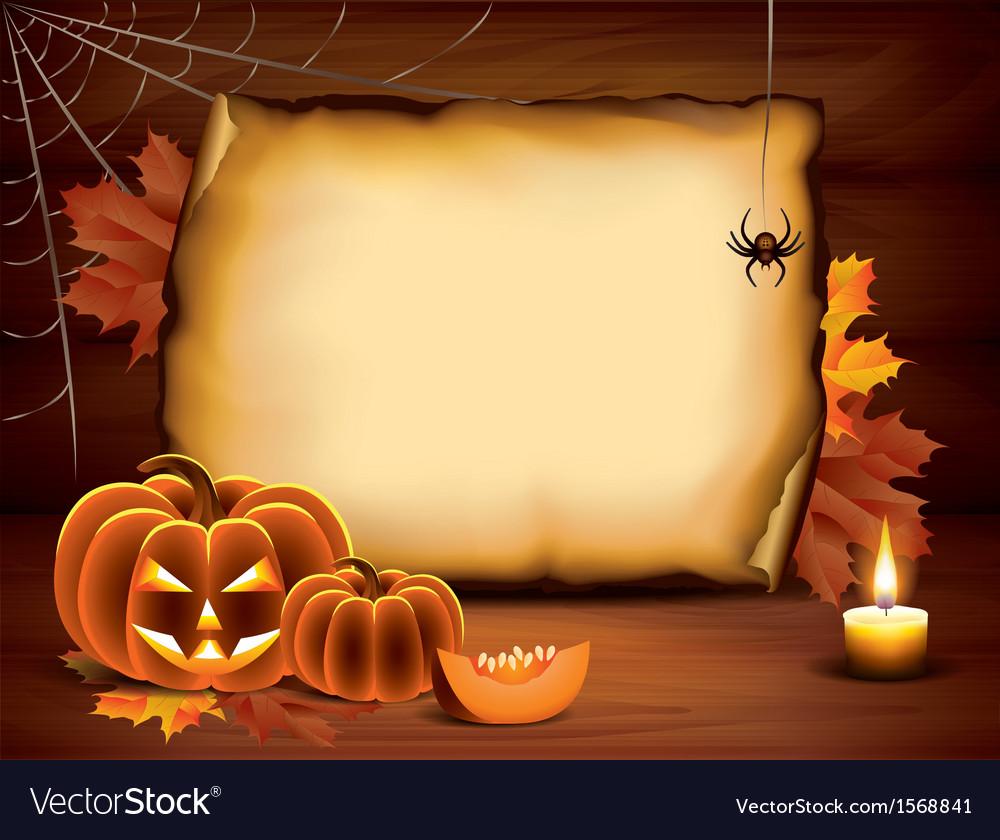 Pumpkin paper halloween vector image