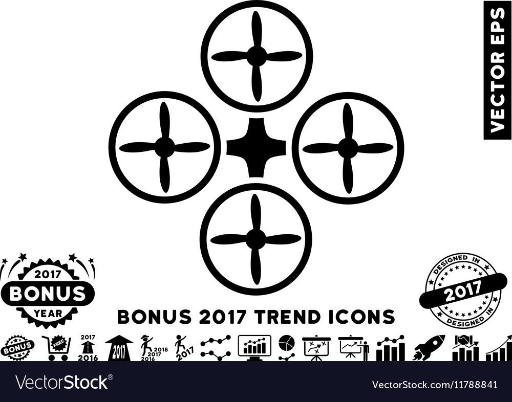 Quadcopter Flat Icon With 2017 Bonus Trend