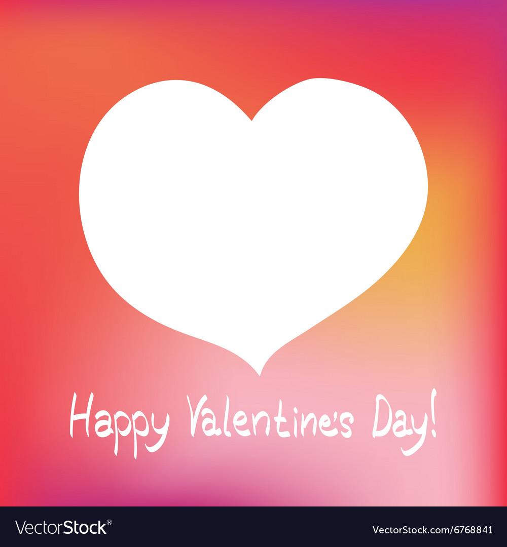 Valentines day postcard vector image