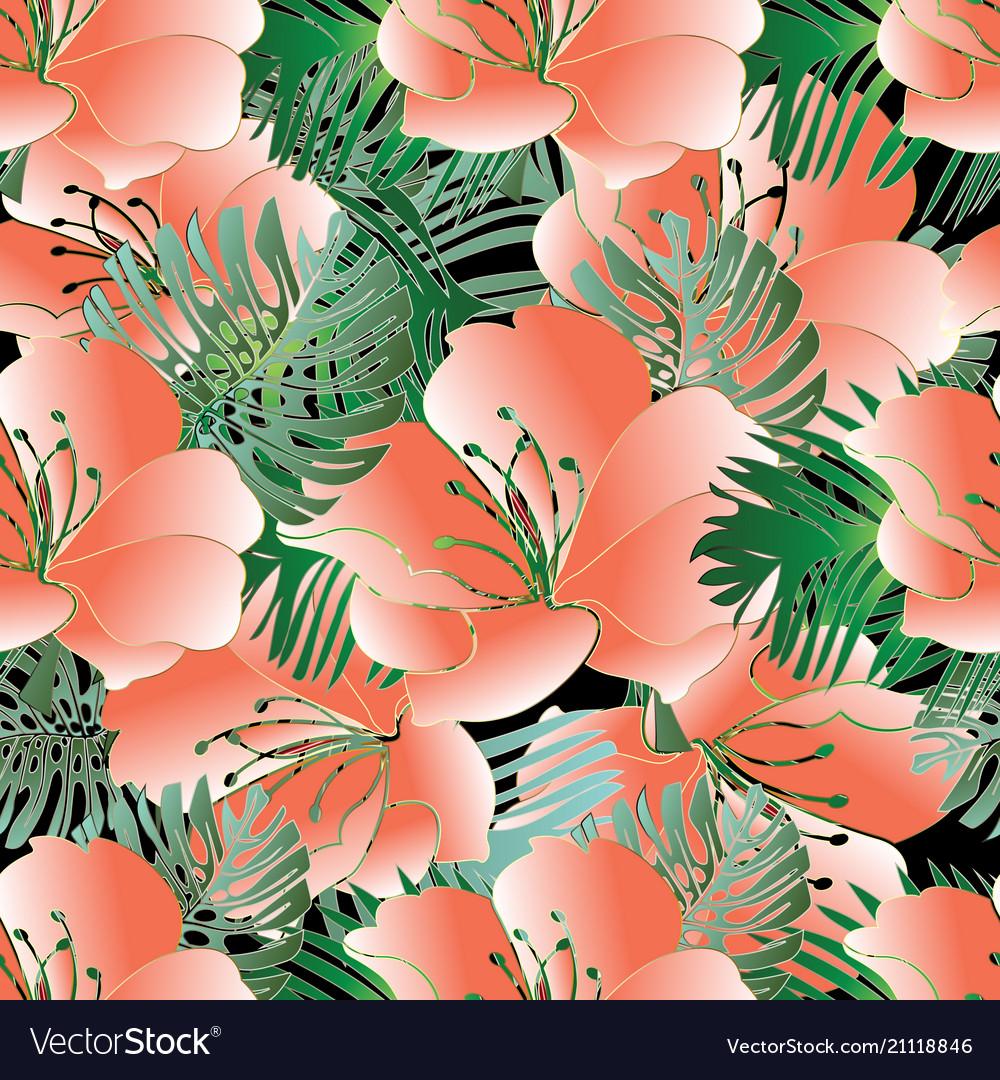 Beautiful flowers seamless pattern floral
