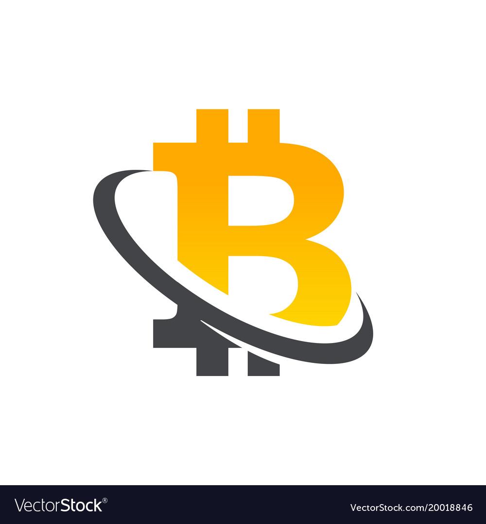 Bitcoin Logo Icon Royalty Free Vector Image Vectorstock